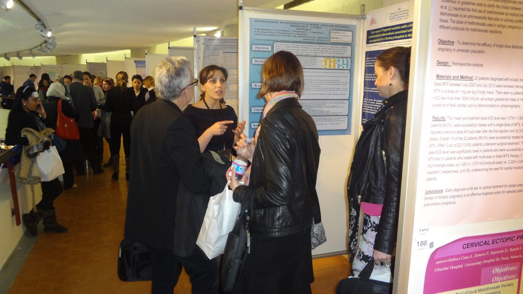 "Reproart delivered a paper titled ""Heterozygotus Mutation (C677T) of Mother Gene and Reccurent Pregnancy Losses at ISGE 2014 Florence"