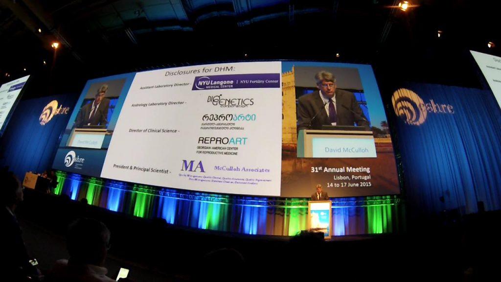 David McCulloh Speech at ESHRE 2015 Lisbon, Portugal
